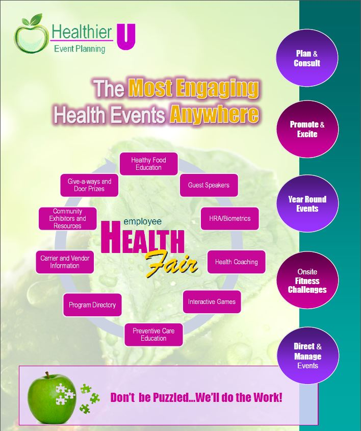 corporate health fair event planning brochure