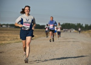 woman running for charity