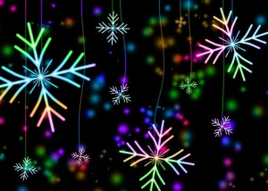Colorful snowflakes for the holiday season